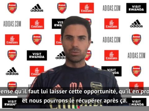 "Coupe de France - Arteta : ""Saliba mérite de disputer la finale avec Saint-Etienne"""