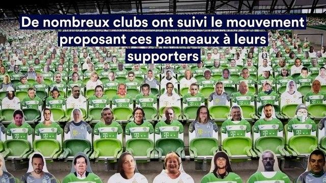 Des supporters en carton s'invitent en tribune