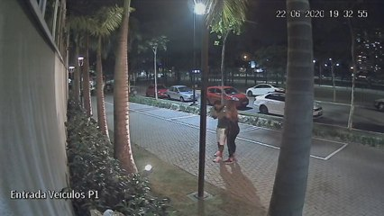 Câmeras de segurança flagram confusão envolvendo Dudu e ex-mulher