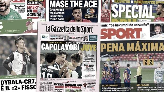 La chute du Barça trembler toute l'Espagne, Cristiano Ronaldo et Paulo Dybala régalent l'Italie