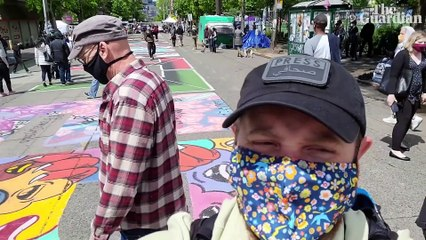 Inside Chaz, Seattle's police-free zone: 'We're proving the world can change' – video