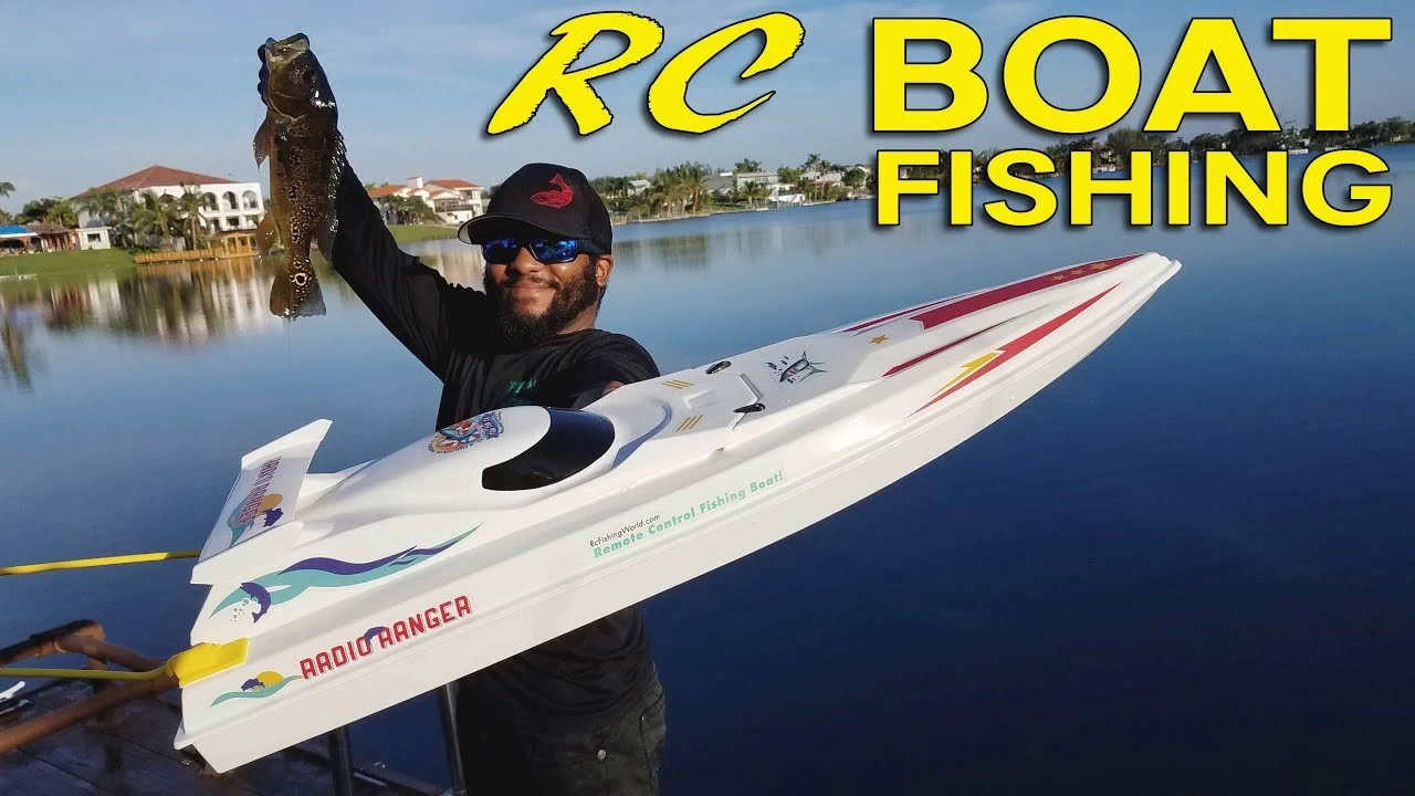 RC Boat Fishing for Big Bass!!!