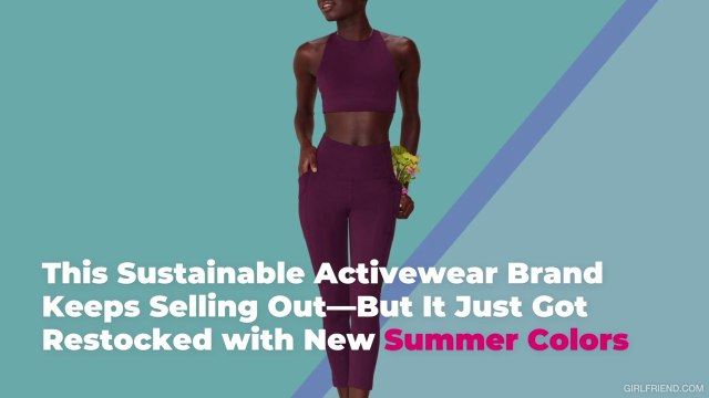 This Sustainable Activewear Brand Keeps Selling Out—But It Just Got Restocked with New Sum