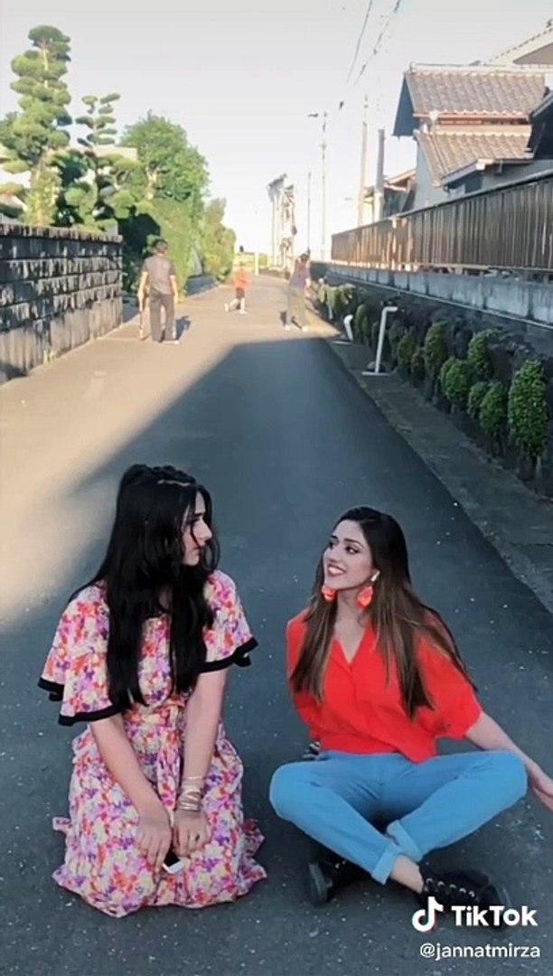 JannatMirza Cute TikTok Videos | June Video Completion | Cute Couple Videos