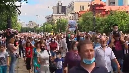 """""""Down with the Tsar!"""" Anti-Putin protests erupt over arrest of 'popular' regional governor"""