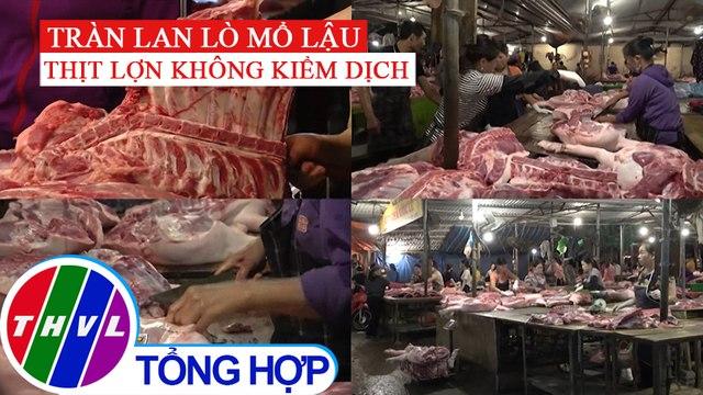 Thâm nhập khu chợ mua bán tràn lan thịt heo không kiểm dịch tại Hà Nội