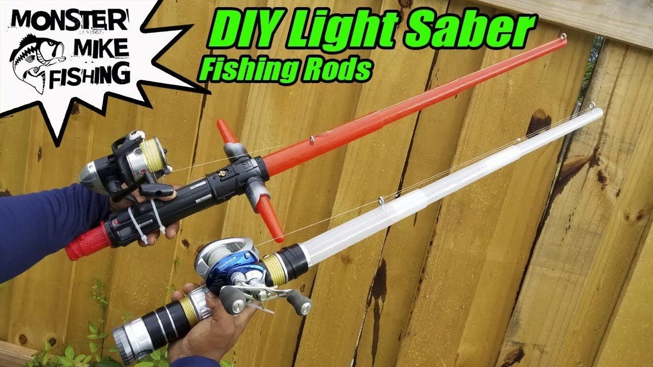 DIY Star Wars Lightsaber Fishing Rod