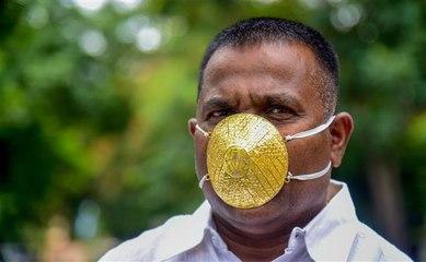 كمامة من الذهب للوقاية من فيروس كورونا
