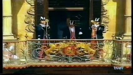 San Fermín 2000 - César Palacios (Osasuna) lanza el Chupinazo de los Sanfermines