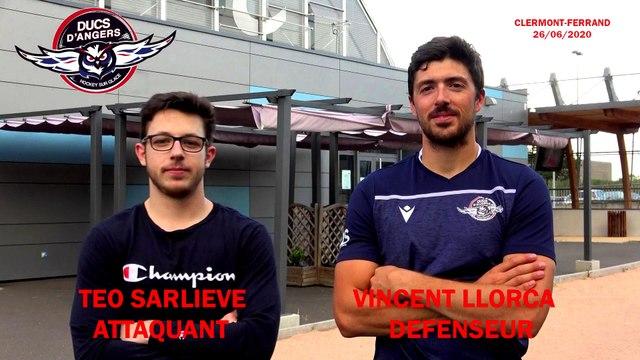 Hockey sur glace Interview Téo Sarliève (attaquant) & Vincent Llorca (Défenseur) des Ducs d'Angers (2020-06-26  - Clermont-Ferrand)