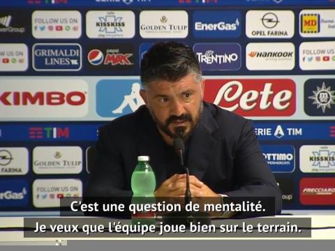 """8es - Gattuso : """"Construire une mentalité de gagnant"""""""