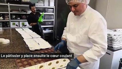"""Au Havre, le pâtissier Mazzoni a imaginé un galet au goût """"qui fait sens avec la ville"""""""