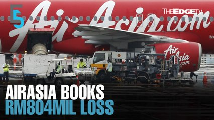 EVENING 5: AirAsia swings to loss in 1QFY20