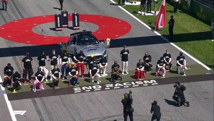 Drivers take a knee before  Austrian Grand Prix Formula 1 race [2020]