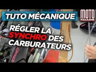 Régler la synchronisation des carburateurs moto - Tuto Mecanique