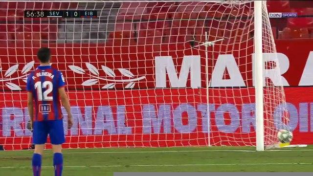 La Liga : Avec Ocampos en gardien, Séville sauve la victoire