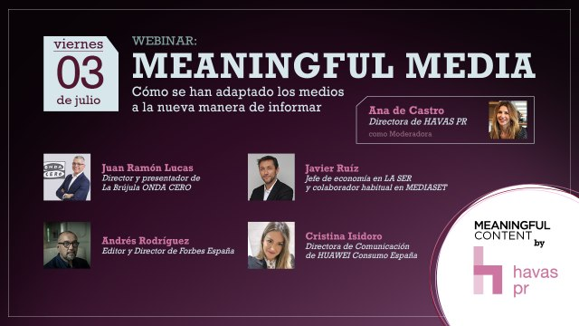 Agora Spain - Webinar MEANINGFUL MEDIA