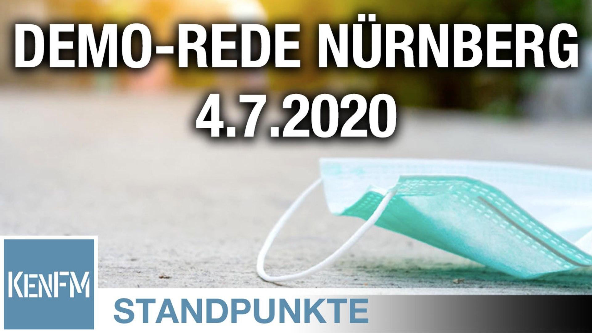 Demo-Rede Nürnberg 4.7.2020 | Von Christian Kreiß