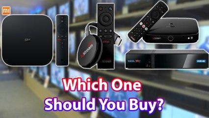 Airtel Xstream Vs ACT Stream TV Vs Tata Sky Binge+ Vs Mi Box Which One Should You Buy
