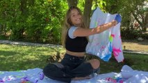 Kenzie Ziegler Creates Her Very Own Glow In The Dark Tie Dye Clothes