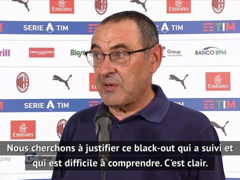 """31e j. - Sarri : """"Un black-out difficile à comprendre"""""""
