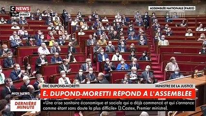 Regardez les images du nouveau ministre de la Justice Éric Dupond-Moretti chahuté ce matin par les députés à l'Assemblée nationale lors de sa prise de parole