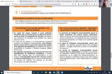 Publication de l'étude sur l'interopérabilité suivie d'un panel