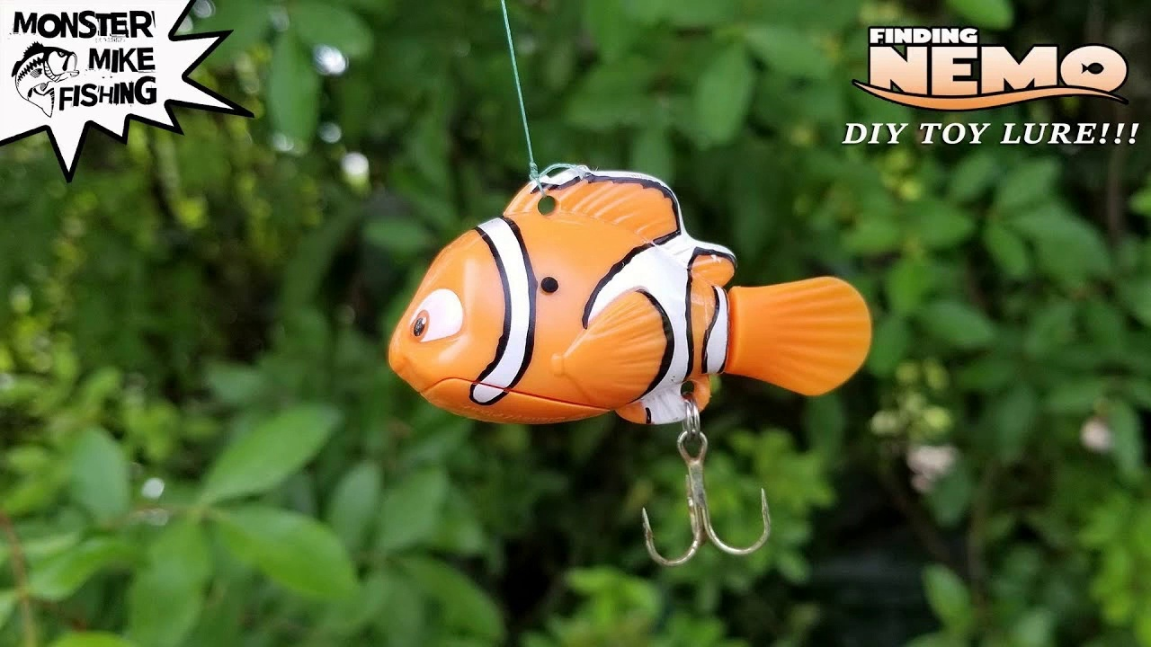 Finding Nemo Fishing Lure DIY Can we catch a Fish