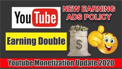 Youtube Monetization Update 2020 || Increase YouTube Earning