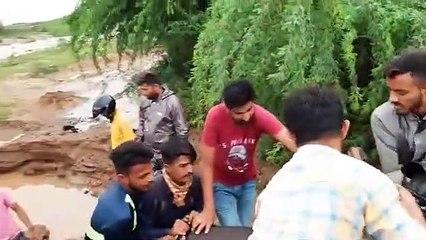 Gujarat Kutch bridge between Bhadia to Tragdi was damaged