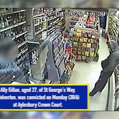 CCTV showing Milton Keynes man sentenced for robbery and theft