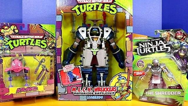 Teenage Mutant Ninja Turtles M.E.C.H. Wrekkers Motorized Leonardo Battlesuit Krang Shredder TMNT