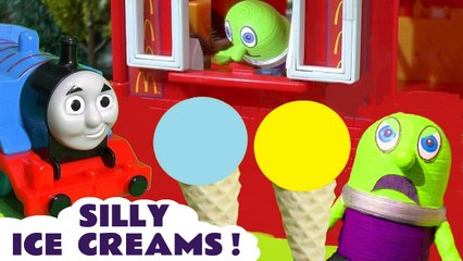 McDonalds Ice Creams with PJ Masks and Disney Pixar Cars McQueen plus Thomas and Friends with Funny Funlings in this Family Friendly Full Episode English Toy Story for Kids