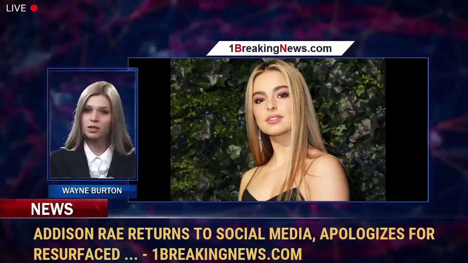 Addison Rae Returns To Social Media Apologizes For Resurfaced 1breakingnews Com Video Dailymotion