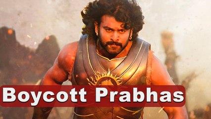 Boycott Prabhas !! ಕನ್ನಡಿಗರು ಗರಂ | Filmibeat Kannada