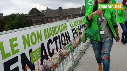 Manifestation du secteur non-marchand à Liège