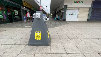 Hand sanitiser units set up to fight coronavirus targeted in shopping centres