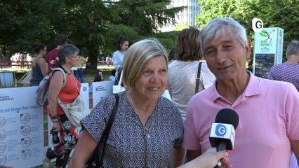 Reportage - Le funambule Nathan Paulin sur un fil entre l'hôtel de ville et la tour Perret - Reportage - TéléGrenoble