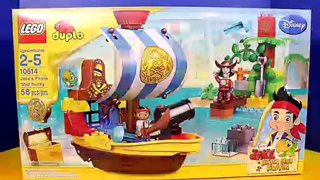 Disney Lego Duplo Jake And The Never Land Pirates Jake's Pirate Ship Bucky Stop Motion