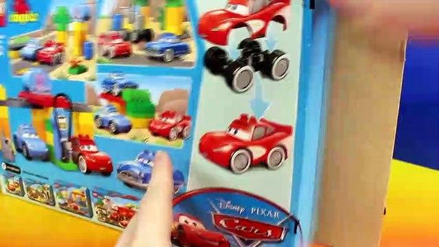Disney Pixar Cars Lego Duplo Flo's Cafe v8 Lightning McQueen Sally Mater Doc Hudson Batman Batmobile
