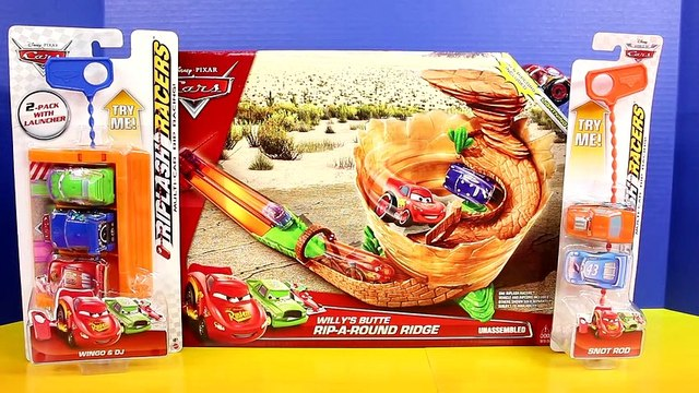 Disney Pixar Cars Willy's Butte Rip-A-Round Ridge Lightning McQueen Toy Playset
