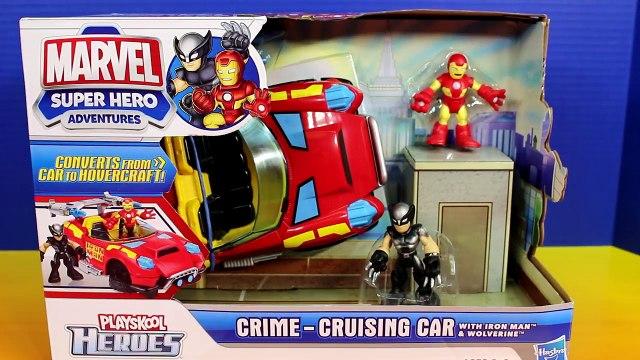 Imaginext Batman & Batcycle Playskool Heroes Crime Cruising Car Wolverine Iron Man Joker