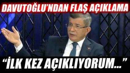 Davutoğlu'dan flaş 'Pelikancılar' açıklaması: İlk kez açıklıyorum...