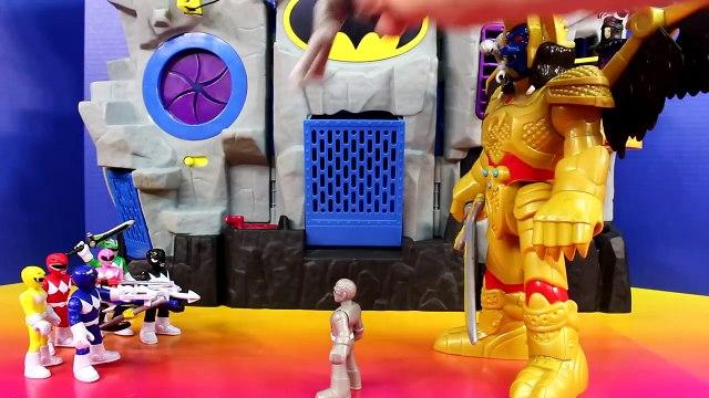 Imaginext Goldar & Rita Repulsa Battle Mighty Morphin Power Rangers Batman Batbot