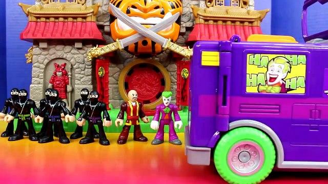 Imaginext Replica Batman Ninjas & Joker Bane Try Destroy Gotham City Batman Saves Day Just4fun290