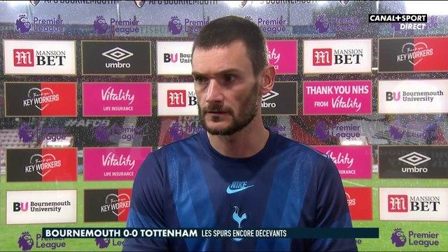 La réaction d'Hugo Lloris après Bournemouth / Tottenham