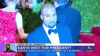 Kanye West says he's running for president l GMA