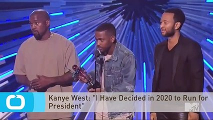 Kanye West - 'I Have Decided in 2020 to Run for President'