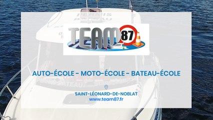 Team 87, auto-école, moto-école et bateau-école à Saint-Léonard-de-Noblat.