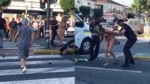 Causa un accidente en Lepe con heridos, baila en biquini ante la Policía y se resiste a ser detenida